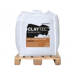Claytec Lehm-Unterputz Stroh erdfeucht 0,5to