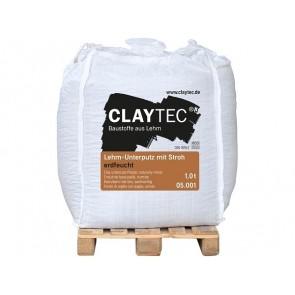 Claytec Lehm-Unterputz mit Stroh erdfeucht 1to