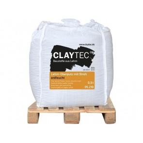 Claytec Lehm-Oberputz mit Stroh erdfeucht 0,5to