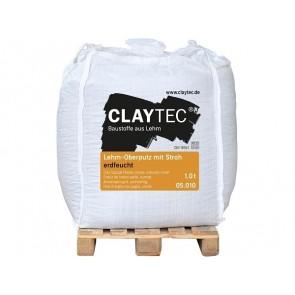 Claytec Lehm-Oberputz mit Stroh erdfeucht 1to