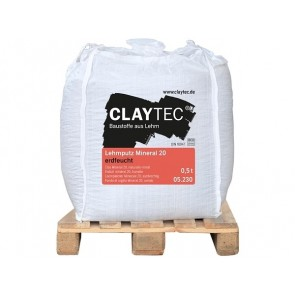 Claytec Lehmputz Mineral 20 erdfeucht BigBag Klein