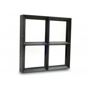 Fenster Metall Doppelverglasung 25 x 25cm