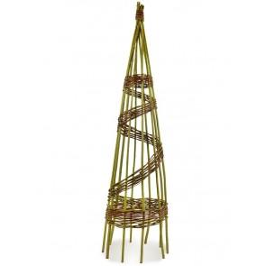 Rankpyramide aus Weide Ø 30cm Höhe 100cm