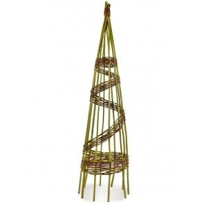 Rankpyramide aus Weide Ø 40cm Höhe 140cm